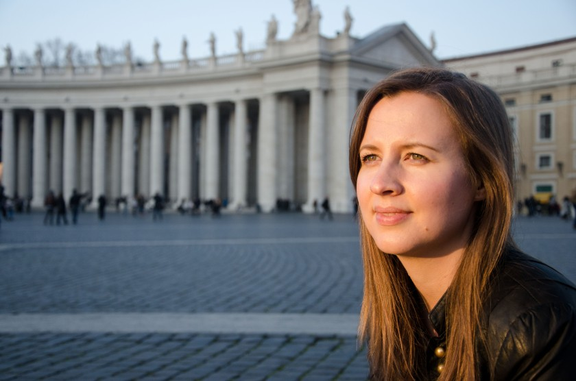 Emma at the Vatican
