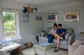 Enjoying the summer house