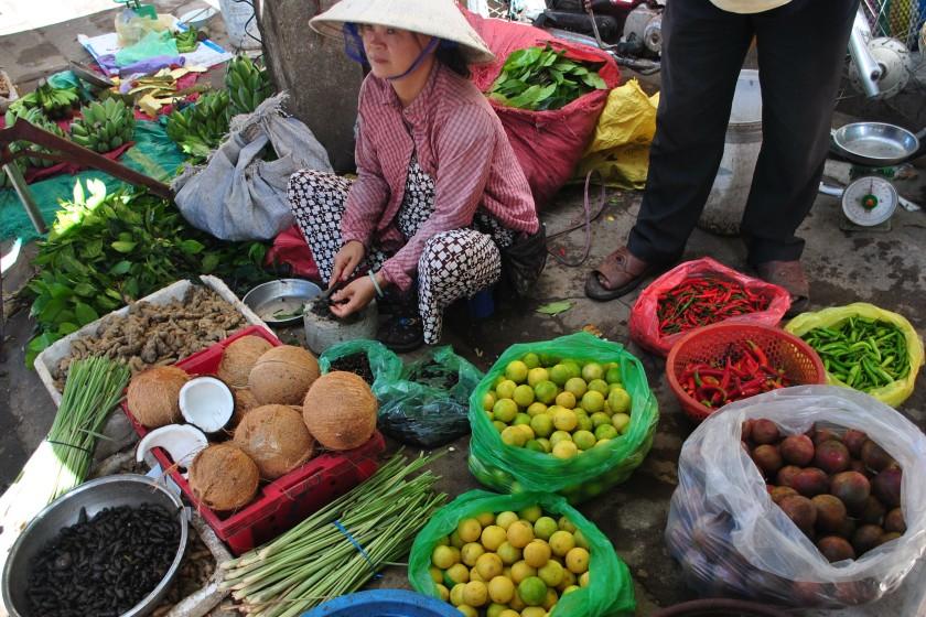 Market stall in Vietnam