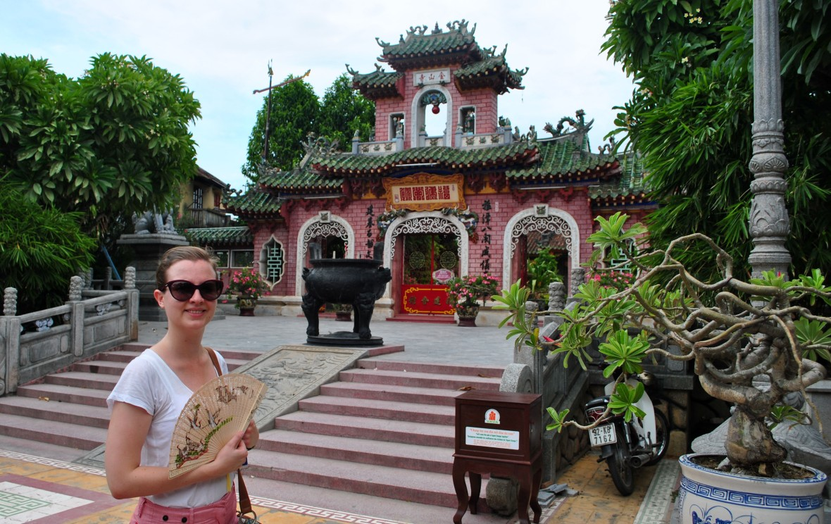 Me at a temple in Hoi An