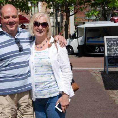 Mum and dad at Hesdin market
