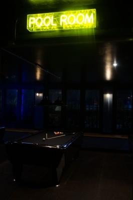 The pool room at Slate
