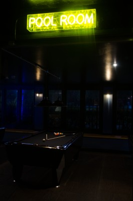 The pool room at Slate