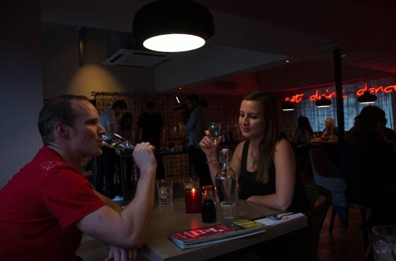 Jake and I at Bar Soba