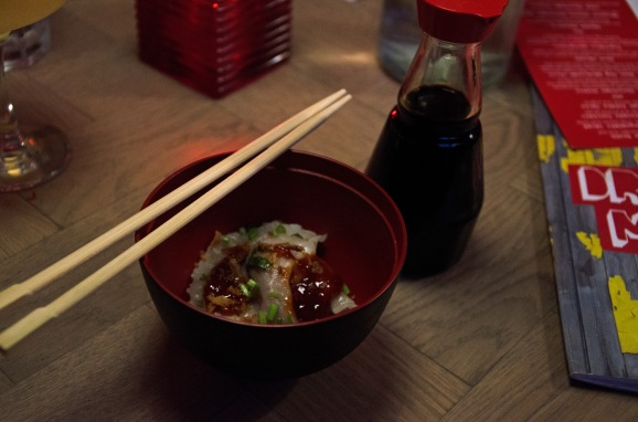 Pork and coriander dumplings