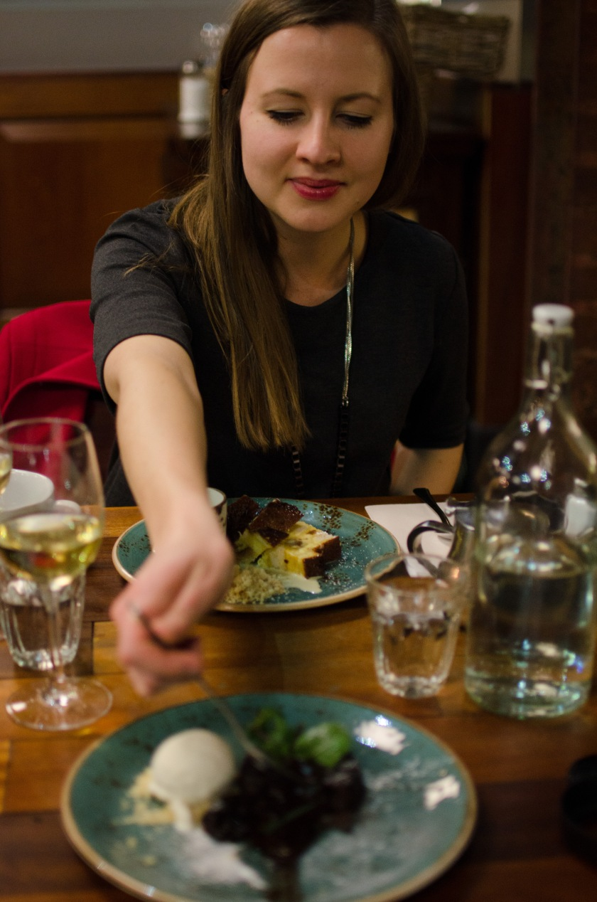 Emma eating