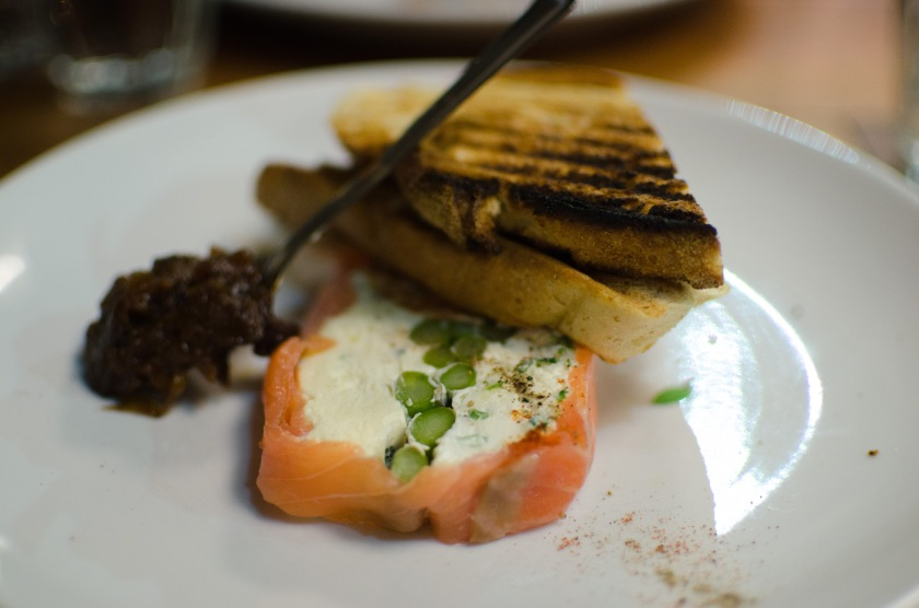 Salmon cream cheese The Tetley